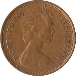 سکه 2 پنس برنزی - انگلیس 1980 غیر بانکی