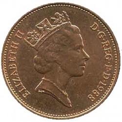 سکه 2 پنس برنزی - انگلیس 1988 غیر بانکی