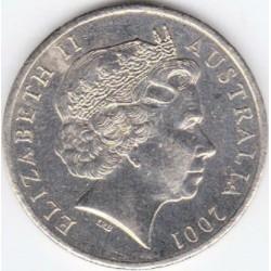 سکه 10 سنت - نیکل مس - استرالیا 2001 غیر بانکی