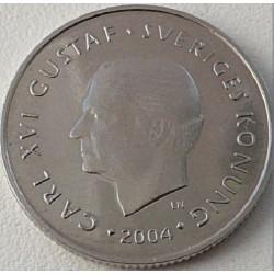 سکه 1 کرون - نیکل مس - سوئد 2004 غیر بانکی