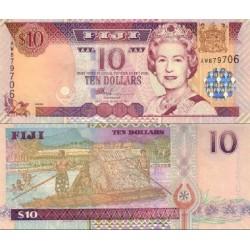 اسکناس 10 دلار - فیجی 2002 سریال دو جرفی