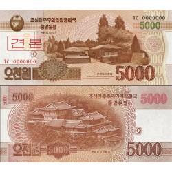 اسکناس 5000 وون - اسپسیمن - کره شمالی 2013
