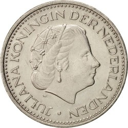 سکه 1 گلدن - نیکل - هلند 1973غیر بانکی