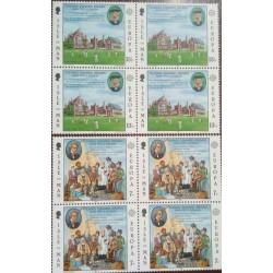 2 عدد بلوک تمبر مشترک اروپا - Europa Cept - B - جزیره من 1980