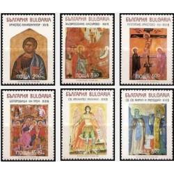 6 عدد تمبر تابلو نقاشی - شمایلها - بلغارستان 1994 قیمت 5.8 دلار