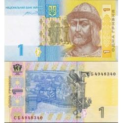اسکناس 1 هری ون - اوکراین 2014