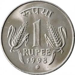سکه 1 روپیه - فولاد ضد زنگ - هندوستان 1998 غیر بانکی