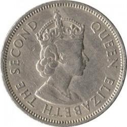 سکه 50 سنت - نیکل مس - هنگ کنگ 1963 غیر بانکی