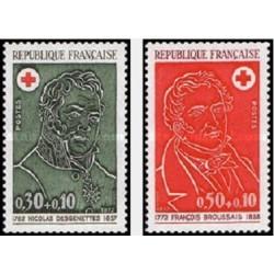 2 عدد تمبر صلیب سرخ   - فرانسه 1972