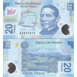 اسکناس پلیمر 20 پزو - مکزیک 2013