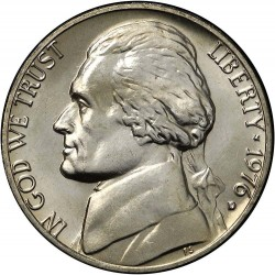 سکه 5 سنت - نیکل مس - آمریکا  1976غیر بانکی