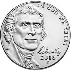 سکه 5 سنت - نیکل مس - آمریکا 2016 غیر بانکی