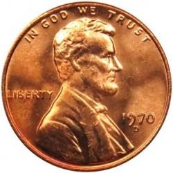 سکه 1 سنت - برنجی - آمریکا 1970غیر بانکی