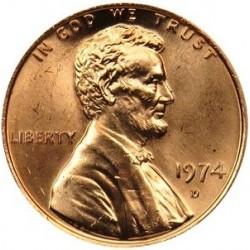 سکه 1 سنت - برنجی - آمریکا 1974غیر بانکی