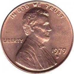 سکه 1 سنت - برنجی - آمریکا 1979غیر بانکی