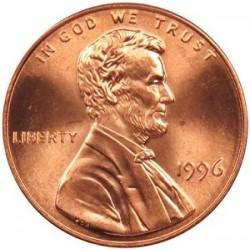 سکه 1 سنت - برنجی - آمریکا 1996غیر بانکی