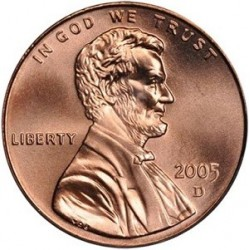 سکه 1 سنت - برنجی - آمریکا 2005 غیر بانکی