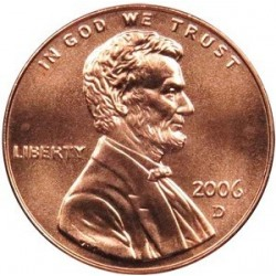 سکه 1 سنت - برنجی - آمریکا 2006 غیر بانکی