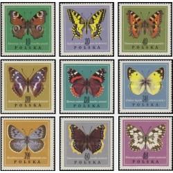 9 عدد تمبر پروانه ها - لهستان 1967 قیمت 7.2 دلار