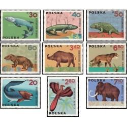9 عدد تمبر جانداران ماقبل تاریخ - لهستان 1966 قیمت 7.7 دلار