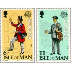 2 عدد تمبر مشترک اروپا - Europa Cept - تاریخچه پست - جزیره من 1979