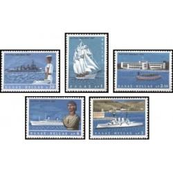5 عدد تمبر هفته دریانوردی - یونان 1967