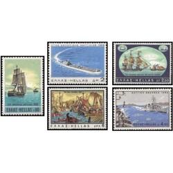 5 عدد تمبر کشتیها  - یونان 1969