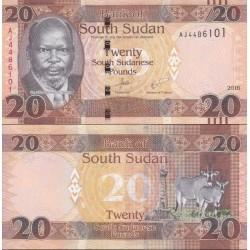 اسکناس 20 پوند - سودان جنوبی 2016