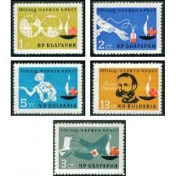 5 عدد تمبر صدمین سالروز صیلب سرخ بین المللی - بلغارستان 1964