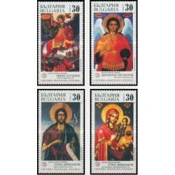 4 عدد تمبر شمایلها - نمایشگاه تمبر بلغارستان - بلغارستان 1989