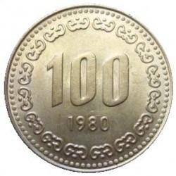 سکه  100 وون  - نیکل مس - کره جنوبی 1980 غیر بانکی