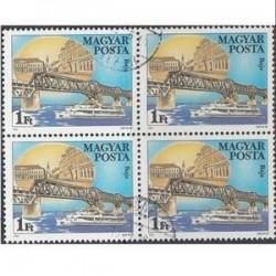 بلوک تمبر با مهر صادراتی- 94 -  مجارستان