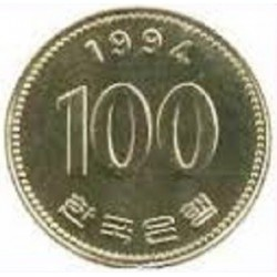 سکه  100 وون  - نیکل مس - کره جنوبی 1994 غیر بانکی