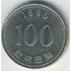 سکه  100 وون  - نیکل مس - کره جنوبی 1995 غیر بانکی