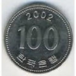 سکه  100 وون  - نیکل مس - کره جنوبی 2002 غیر بانکی
