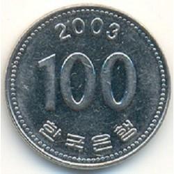 سکه  100 وون  - نیکل مس - کره جنوبی 2003 غیر بانکی