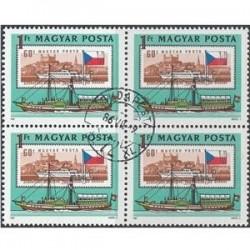 بلوک تمبر با مهر صادراتی-102-  مجارستان