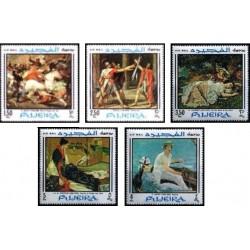 5 عدد تمبر تابلوهای نقاشی - پست هوائی - فجیره 1968 قیمت 11.3 دلار