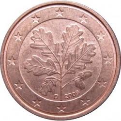 سکه 1 سنت یورو - مس روکش فولاد -آلمان 2005 غیر بانکی