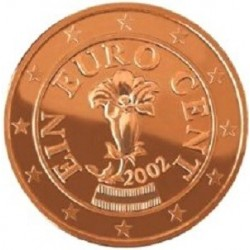 سکه 1 سنت یورو - مس روکش فولاد - اتریش 2005 غیر بانکی