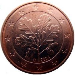 سکه 1 سنت یورو - مس روکش فولاد - آلمان 2004 غیر بانکی