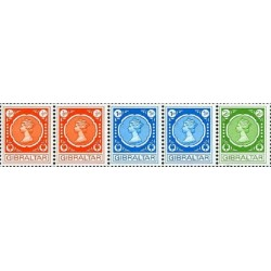 5 عدد تمبر سری پستی - جبل الطارق 1971 قیمت 3.5 دلار