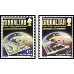 2 عدد تمبر مشترک اروپا - Europa Cept - ارتباطات پستی و مخابراتی - جبل الطارق 1984