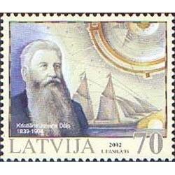 1 عدد تمبر تاریخچه ناوبری لتونی- لتونی 2002 قیمت 2.9 دلار