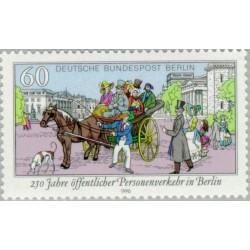 1 عدد تمبر حمل و نقل عمومی - برلین آلمان 1990