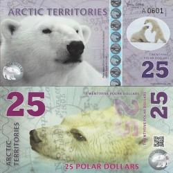 اسکناس پلیمر 25 دلار - قطب شمال 2017