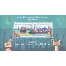 سونیرشیت   تمبر مشترک با ایران - بنادر - هندوستان 2018