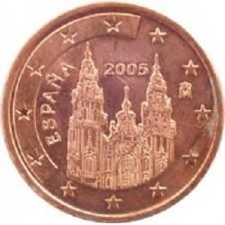 سکه 1 سنت یورو - مس روکش فولاد - اسپانیا 2013 غیر بانکی