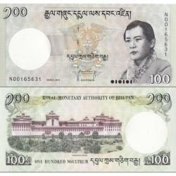 اسکناس 100 نگولتروم - بوتان 2011