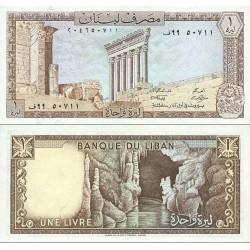 اسکناس 1 لیر - لبنان 1980